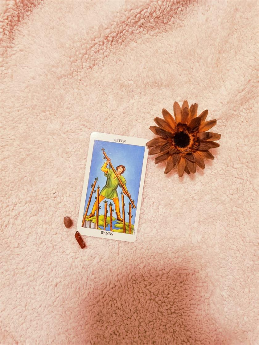 Seven Of Wands Opposition & Courage