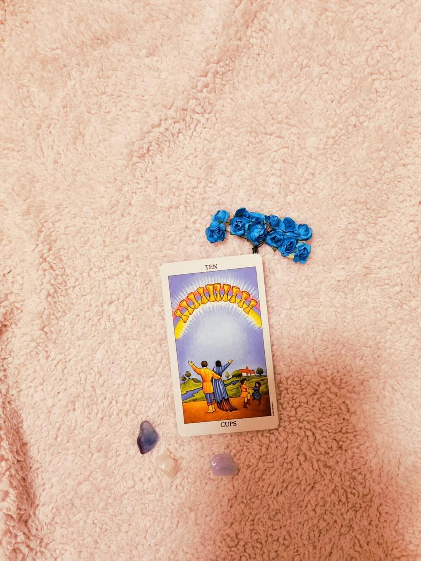 Ten Of Cups Contentment & Bliss
